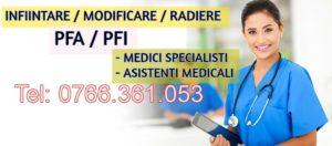 INFIINTARE PFA / PFI MEDIC SPECIALIST CRAIOVA – DOLJ