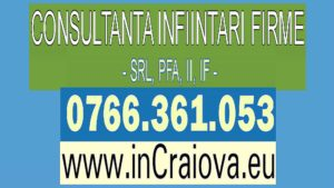 Infiintare Firma SRL Craiova Dolj