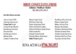 BIROU CONSULTANTA INFIINTARE FIRMA CRAIOVA