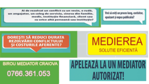 DIVORT PRIN MEDIERE PROCEDURA – BIROU MEDIATOR CRAIOVA